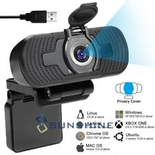 2MP 1080P Full HD Webcam Auto Focus Web Camera w/Mic for Video Calling Recording