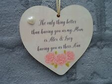 Personalised Heart Plaque The Only Thing Better Mum Nan Mothers Day Gift Names