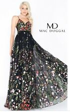 Mac Duggal 62989M Embroidered Bustier Gown, Size 12 CURRENT @ NORDSTROM