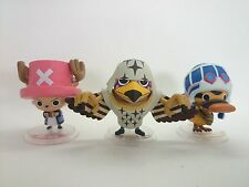"One Piece 3"" Figure Lot of 3 Official Authentic Japan k#7612"