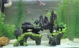 1 Pc Resin Small/Large Size Rockery Fish Tank Cave Landscape Aquarium Decoration