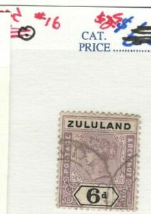 Zululand Scott #16 Used VF for issue