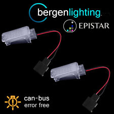 FOR VW GOLF TIGUAN 18 LED FOOTWELL UNDER DOOR COURTESY BOOT LIGHT LAMP PAIR