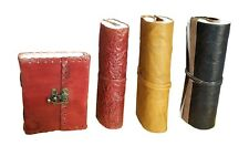 7 X 5 / 5 x 3.5 Inch Leather Journal Handmade Notebook Blank Diary Lot of 4