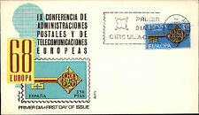 Primero etiquetas carta FDC First Day cover españa SPAIN Espana sello ersttag Europa