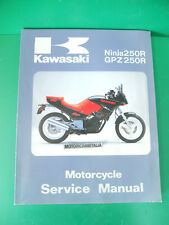 KAWASAKI ninja 250 gpz  manuale officina owner's service manual gpz250 ninja250r