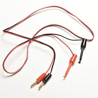 1 Pair Banana Plug To Test Hook Clip Probe Lead Cable For Multimeter EFBIIJ