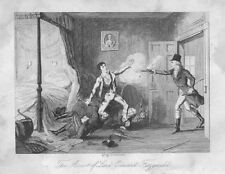 IRELAND 1798 Rebellion: Arrest of Lord Edward Fitzgerald - Antique Print 1845