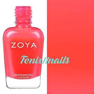 ZOYA ZP867 ERZA neon orange red cream nail polish ~ ULTRA BRITES Collection NEW