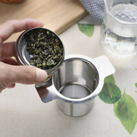 Mesh Tea Infuser Metal Cup Strainer Stainless Steel Loose Leaf Filter With Lid