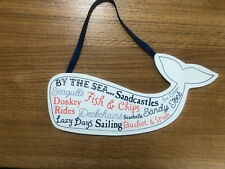 Seaside Themed Beach Hut Nautical Bathroom Wooden Hanging Plaque Sign Brand New