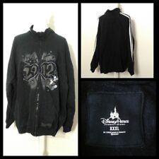 Disney Mickey Mouse Sweatshirt Women's 3Xl Black 2012 Full Zip Inv#S8960