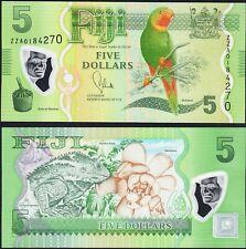 Fiji 5 Dollars Bird Polymer Plastic P 115 ND 2013 2012 ZZA Replacement note UNC