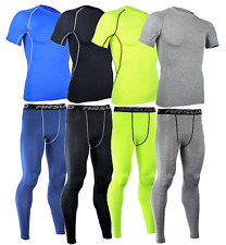 HOMME Legging Maillot Collant Shirt Compression Running Arsuxeo Livraison Rapide