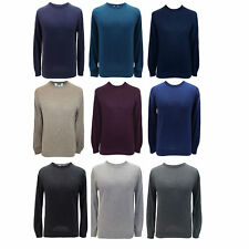 M&S MENS JUMPER Crew Neck Cotton Blend PULLOVERS SWEATERS Marks & Spencer MEN'S