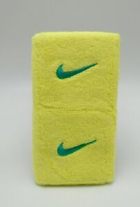 Nike Swoosh Wristbands Single Wide Elektrisch Yellow/Atomic Teal