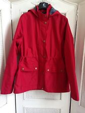 Barbour Childs Raincoat Hooded Jacket Red Breathable New Boys Girls Sz XL12-13