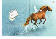 PUBLICITE ADVERTISING 035  2010  HERMES  parfum  VOYAGE  ( 2p)