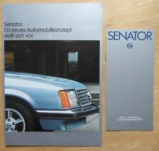 OPEL SENATOR 1978 German Mkt Sales Brochure Prospekt + Price List
