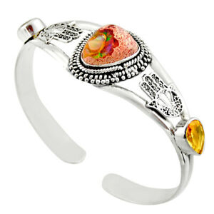 republic day sale 16.02cts mexican fire opal adjustable bangle d47206
