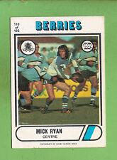 1976 SCANLENS  RUGBY LEAGUE CARD  #110 MICK RYAN, CANTERBURY BULLDOGS