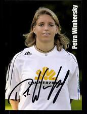 Petra Wimbersky AUTOGRAFO carta 1 FFC Frankfurt 2006-07 ORIGINALE + a 135808