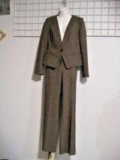 Worthington Size 10 to Medium Brown Tweed Pant Suit