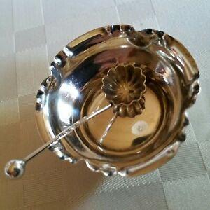 Sehr schöne Saliere mit Löffel, 925 Sterling Silber, BH c.1888 von V.B. & S.