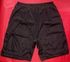 3 Pair BLACK Size 11 Long Leg Nylon Tricot No Cotton Crotch Panty USA CLOSE OUT