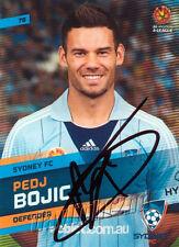 ✺Signed✺ 2013 2014 SYDNEY FC A-League Card PEDJ BOJIC