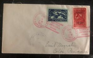 1928 Panama Cover Domestic Used Lindbergh Arrive Cancel