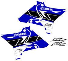 Yamaha yz125 yz250 Retro Shroud Graphics for UFO  Restyle Plastic kit blue