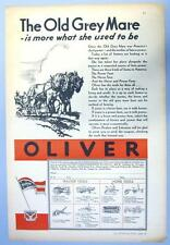 Original  1931 Oliver Tractor Ad THE OLD GREY MARE IS MORE THAN WHAT SHE WAS