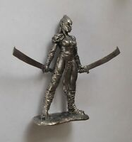 1/32 Orc Female Warrior Fantasy Tin Metal Soldier Figure handmade miniature 54mm