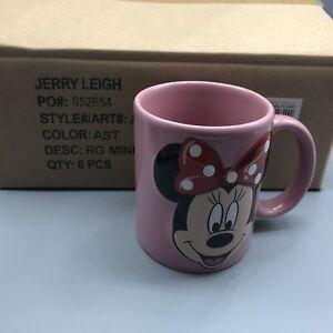 Set Of 6 - Drinking Mug Disney Minnie Mouse Ceramic Mug Pink 11 oz