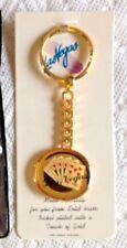 Vintage Brass Las Vegas  Keychain Unused In Original Package