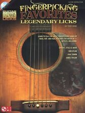 Fingerpicking Favorites Licks Paul Simon James Taylor Guitar TAB Music Book & CD