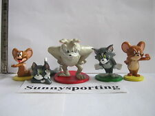 LOT OF 5 PCS TOM and JERRY SPIKE CARTOON FIGURES Cake Topper TOYS