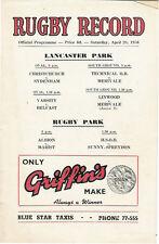 Albion, Marist, Sun-Spreydon 28 Apr 1956 Canterbury NZ Rugby Programme