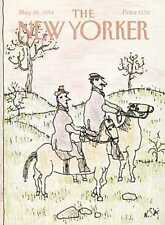 New Yorker COVER 05/28/1984 - Horse Riding - STEIG
