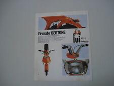 advertising Pubblicità 1970 LAMBRETTA LUI CL 50 BERTONE