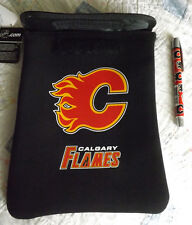 "NHL Calgary Flames 9"" to 10"" Tablet Sleeve in Black/Red/Gold with Inkpen - NWT"