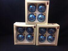 NOS (12) Christmas by Krebs Ball Ornaments. Blue.