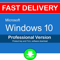 Windows 10 Pro 32 64 bit Genuine License Product Key Code + Download UK USA