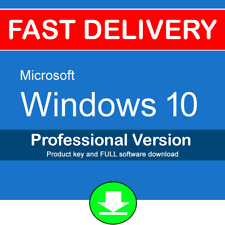 Windows 10 Pro 32 64 bit Genuine Lifetime License Product Key Code Download