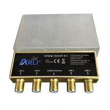DiSEqC Freeview Satellite SWITCH 4 a 1 ASTRA HOTBIRD 1.5 dB