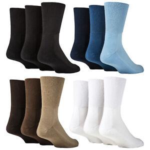 IOMI - 3 Pack Extra Wide Bamboo Diabetic Socks | Mens & Ladies