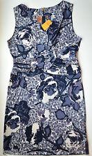 NWT $395 Tory Burch Silk Jersey Sleeveless Floral Print Dress Size L