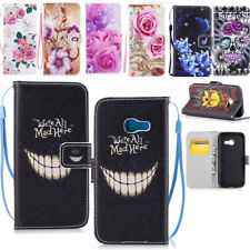 Leather Case Cover Wallet Flip Stand Card Slot Handfree Lanyard For SmartPhones