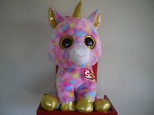 Ty Beanie Boos FANTASIA unicorn 17 inch NWMT.LARGE 40cm.FREE POST IN AUSTRALIA